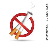 no smoke smoking  isolated on... | Shutterstock . vector #1243034656