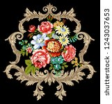 floral hd composition for... | Shutterstock . vector #1243037653