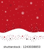 great winter landscape with... | Shutterstock .eps vector #1243038853