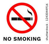 no smoking sign. sticker with... | Shutterstock .eps vector #1243044916