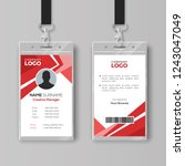 stylish red id card design...   Shutterstock .eps vector #1243047049