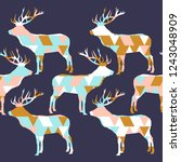 seamless vector background with ... | Shutterstock .eps vector #1243048909