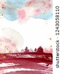 watercolor abstract background  ... | Shutterstock .eps vector #1243058110