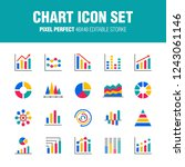 this is a set of chart icons. ... | Shutterstock .eps vector #1243061146