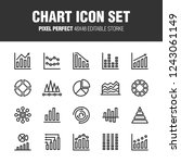 this is a set of chart icons. ... | Shutterstock .eps vector #1243061149