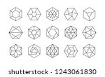 collection of lined isometric... | Shutterstock .eps vector #1243061830