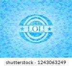 lol  realistic light blue...   Shutterstock .eps vector #1243063249