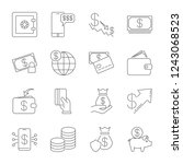 simple icon set related to... | Shutterstock .eps vector #1243068523