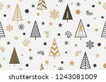 seamless pattern with christmas ... | Shutterstock .eps vector #1243081009