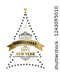 merry christmas and happy new... | Shutterstock .eps vector #1243095010