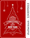 merry christmas and happy new... | Shutterstock .eps vector #1243095013