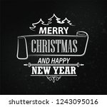 merry christmas and happy new... | Shutterstock .eps vector #1243095016