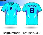 sports jersey template for team ... | Shutterstock .eps vector #1243096633