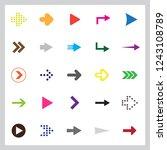 set of twenty five color arrows ... | Shutterstock .eps vector #1243108789