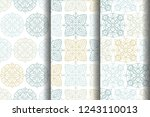 set seamless pattern with round ... | Shutterstock .eps vector #1243110013