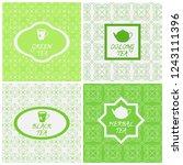 vector set of design elements ... | Shutterstock .eps vector #1243111396