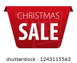 christmas sale text on red tag...