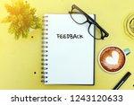 business concept. top view... | Shutterstock . vector #1243120633
