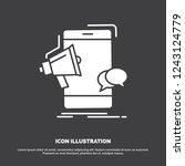 bullhorn  marketing  mobile ... | Shutterstock .eps vector #1243124779