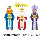 three kings of orient. three... | Shutterstock .eps vector #1243130260