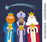 the three kings of orient... | Shutterstock .eps vector #1243130263