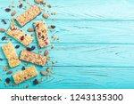 healthy homemade snacks...   Shutterstock . vector #1243135300