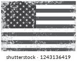american flag in grunge style... | Shutterstock .eps vector #1243136419