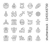 christmas and new year icons... | Shutterstock .eps vector #1243143730