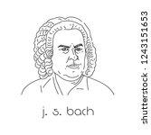 portrait of famous composer.... | Shutterstock .eps vector #1243151653