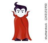 halloween dracula vampire... | Shutterstock .eps vector #1243151950