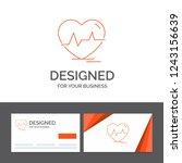 business logo template for ecg  ... | Shutterstock .eps vector #1243156639