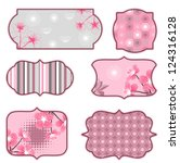 cherry blossoms design elements ... | Shutterstock .eps vector #124316128