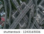 aerial view of highway and... | Shutterstock . vector #1243165036