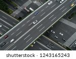 aerial view of highway and... | Shutterstock . vector #1243165243