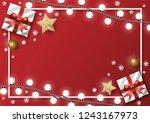 christmas greeting card...   Shutterstock .eps vector #1243167973