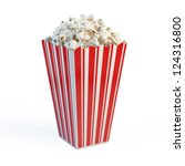 box of popcorn   Shutterstock . vector #124316800