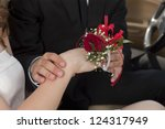 close up image of placing a red ... | Shutterstock . vector #124317949