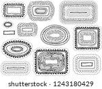 border frame set. hand drawing... | Shutterstock .eps vector #1243180429