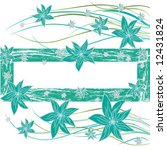 blue floral background | Shutterstock .eps vector #12431824