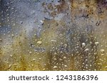 vintage colorful glass with... | Shutterstock . vector #1243186396