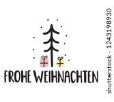 merry christmas in german  ... | Shutterstock .eps vector #1243198930