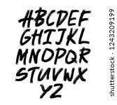 alphabet letters.black... | Shutterstock .eps vector #1243209199