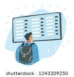 vector cartoon illustration of... | Shutterstock .eps vector #1243209250
