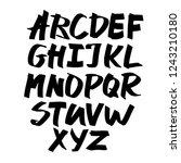 alphabet letters.black... | Shutterstock .eps vector #1243210180