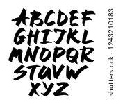 alphabet letters.black... | Shutterstock .eps vector #1243210183