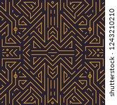 vector geometric seamless... | Shutterstock .eps vector #1243210210