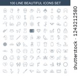 beautiful icons. set of 100... | Shutterstock .eps vector #1243212580