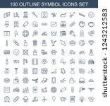 symbol icons. set of 100... | Shutterstock .eps vector #1243212583
