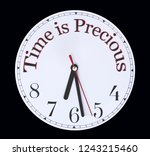 time is precious use is wisely  ...   Shutterstock . vector #1243215460