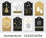 set of assorted new year and... | Shutterstock .eps vector #1243216456